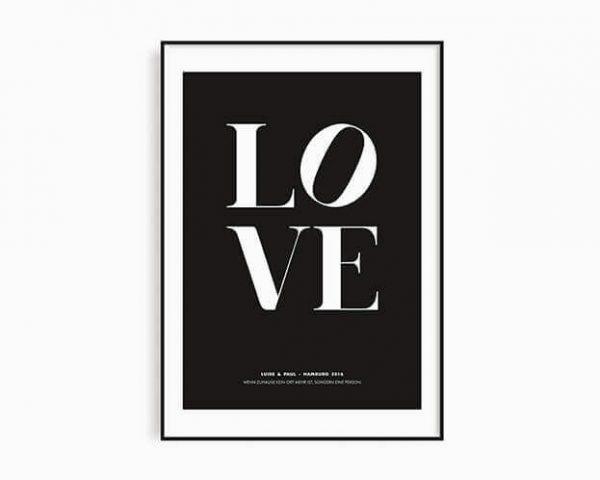 Personalsierbare Poster Liebe
