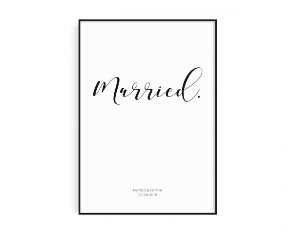 Poster Married